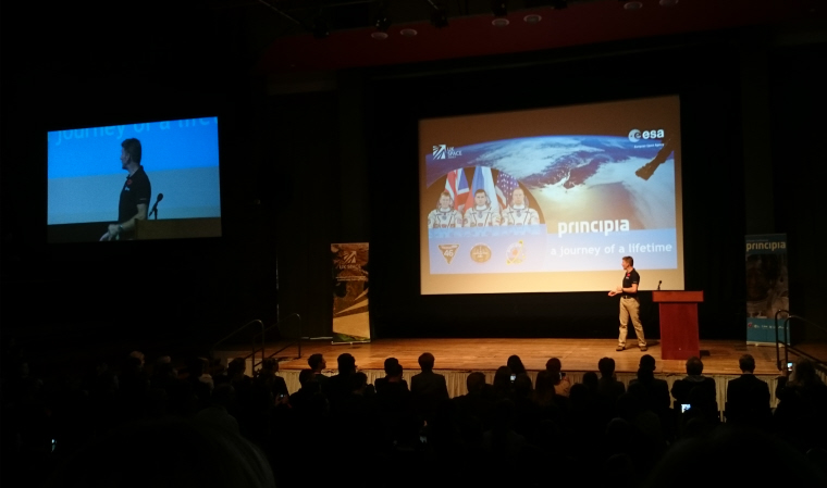 Image of tim-peake-on-stage-at-principa-schools-conference-york