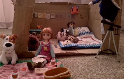 Image of stargazing-and-fossil-hunting-lottie-dolls-with-accessories-in-cardboard-box-room