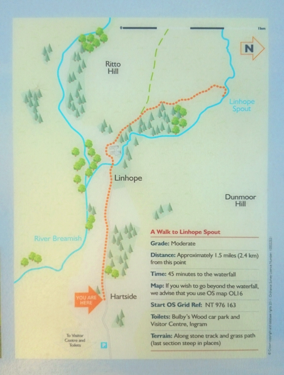 Image of map graphic -of-linhope-spout-waterfall-walk