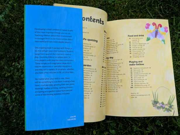 Image of double page spread of contents of 100 outdoor activities book