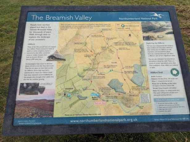 Image of map board of Breamish Valley, Northumberland