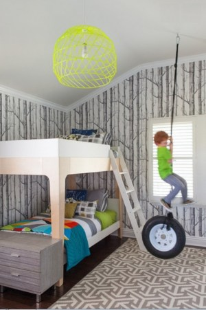 rooms wallpapers awesome wall bedroom kid paper bedrooms boys cool bed child kidsomania fun decor wallcovering boy creative designs gray