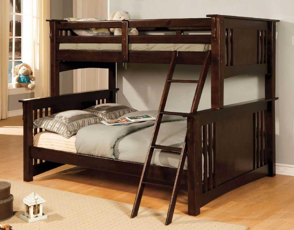 Crestline Twin Full Mission Bunk Bed Kids Furniture In