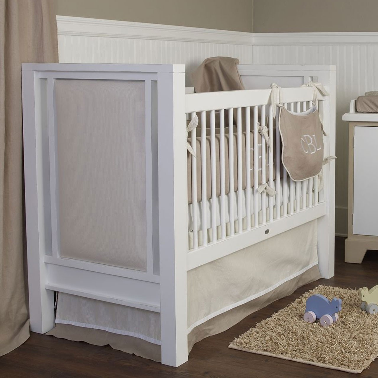 Newport Cottages Ricki Crib With Upholstered Panels Kids