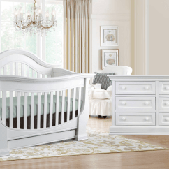 White Toddler Table And Chairs Chair Covers For Sale Uk Baby Appleseed Davenport Convertible Crib In Pure - Kids Furniture Los Angeles