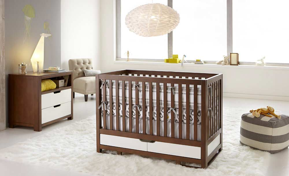 Brown Crib with Storage  OSLO  Kids Only Furniture