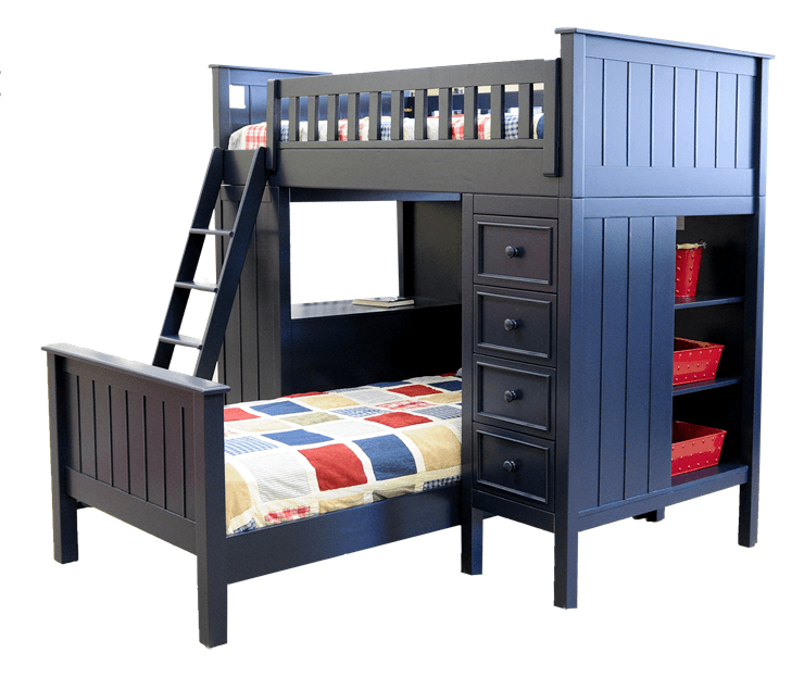 best rocking chairs for nursery modena modern black leather accent chair campground collection loft bed in navy blue - kids furniture los angeles