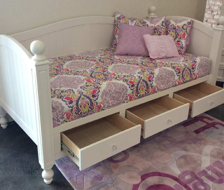 Newport Daybed with Drawers  Kids Furniture In Los Angeles