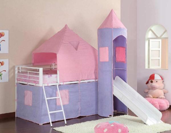 Princess Castle Metal Loft Bed - Kids Furniture In Los Angeles