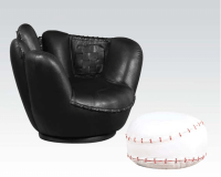 Baseball Glove Kids Chair w/Ottoman