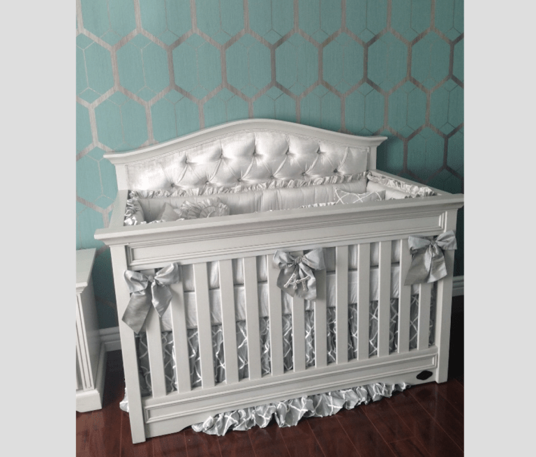 Venice Custom Tufted Convertible Crib Kids Furniture In