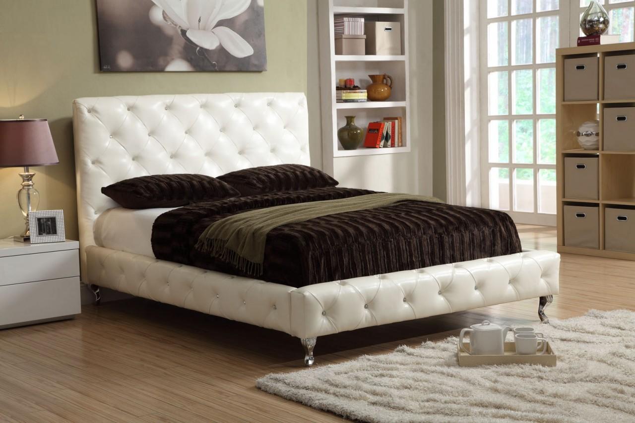 Bella Platform Leather Bed Kids Furniture In Los Angeles