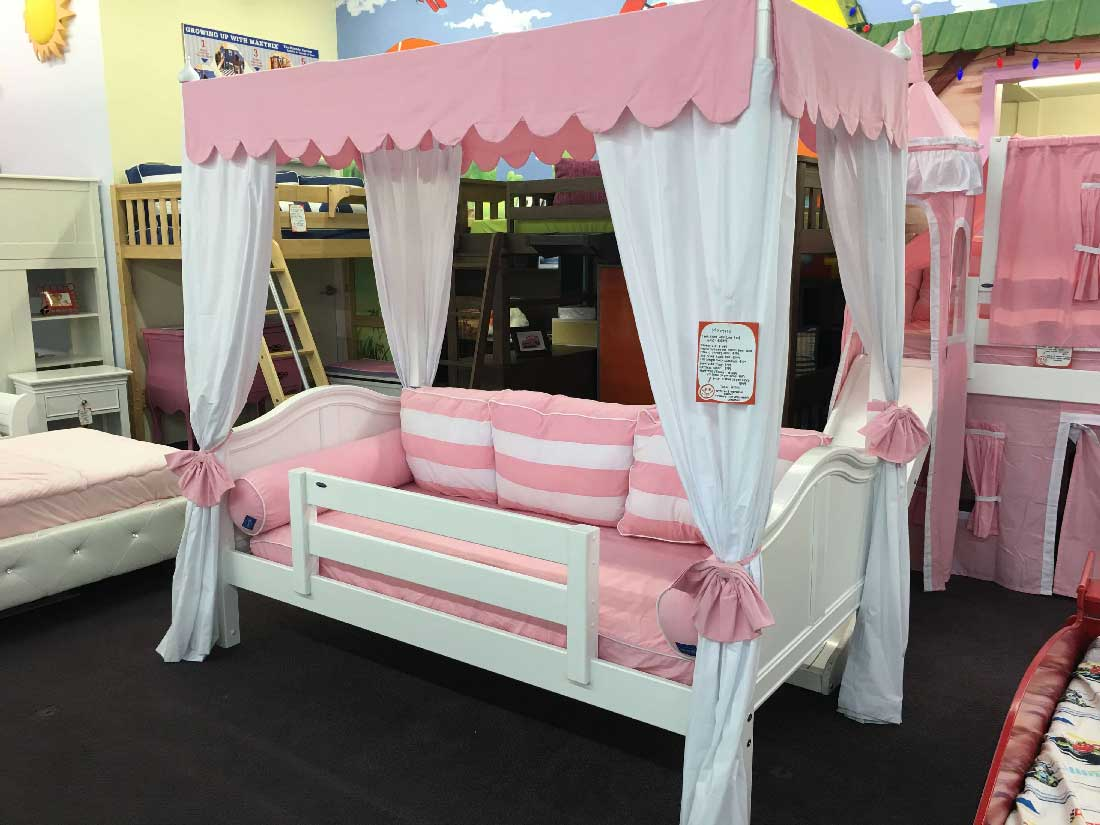 Maxtrix Round Panel Daybed with Canopy  Kids Furniture In