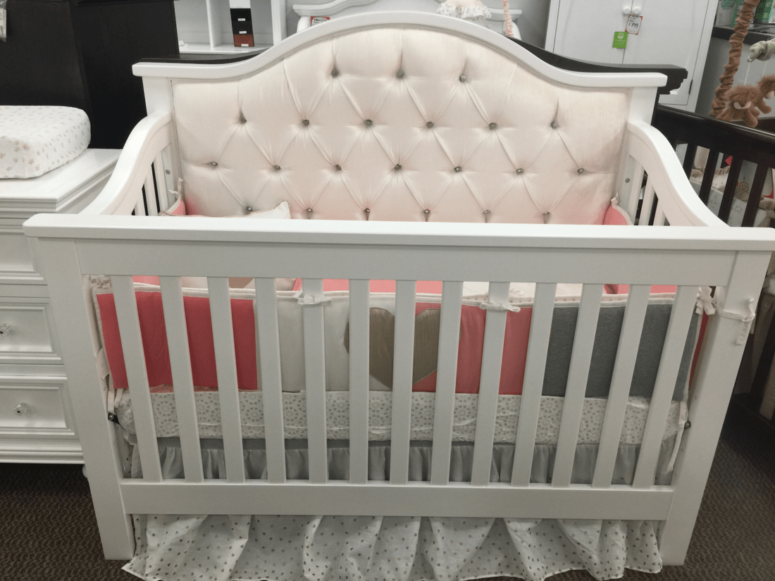 Bellina Custom Tufted Lifetime 4 In 1 Convertible Crib