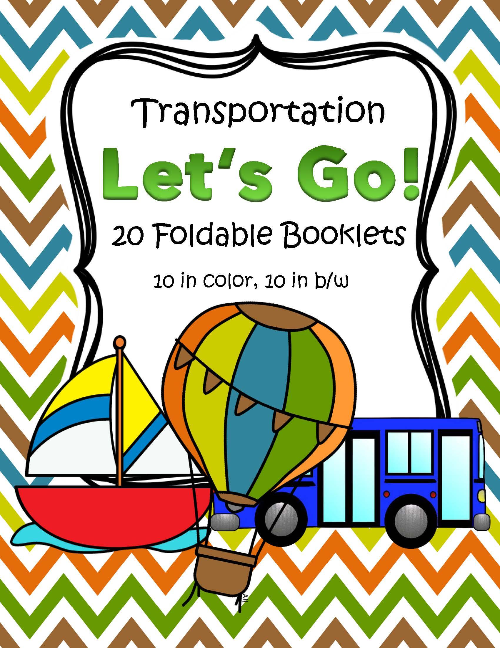 Transportation Foldable Booklets