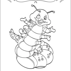 Three Apples And One Caterpillar Coloring Page : Kids Play