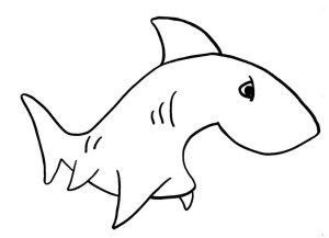 coloring shark drawing simple draw pages clipart pencil easy clip sketches cliparts sharks tooth clipartmag favorites