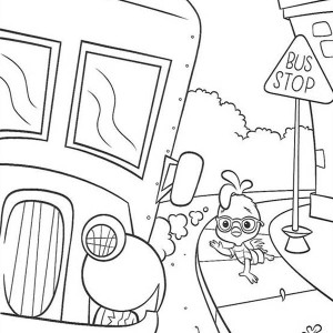 Hopping To A School Bus With Friendly Driver Coloring Page