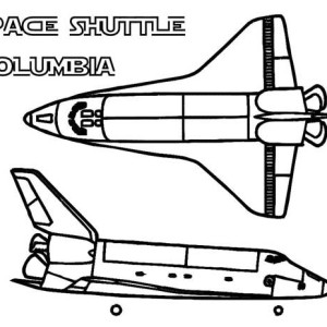 A Simple Pencil Drawing Of Space Shuttle Coloring Page