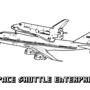 A 2D Drawing Of Space Shuttle Coloring Page : Kids Play Color