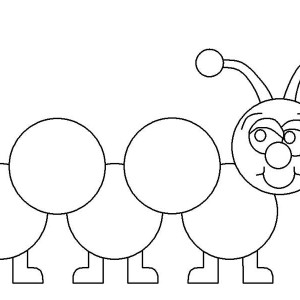 A Friendly Caterpillar Wave All His Hand Coloring Page