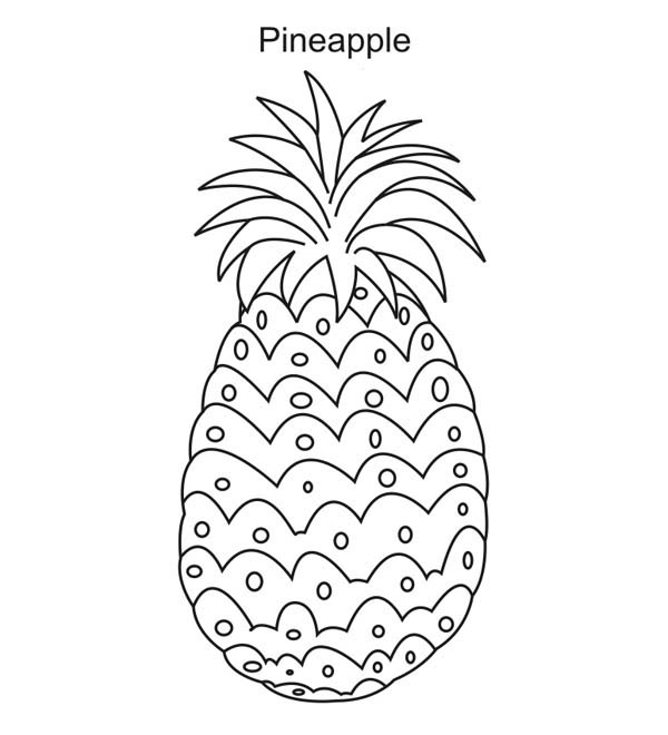 Pineapple A Sweet Tropical Fruit Coloring Page : Kids Play