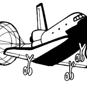 NASA Space Shuttle In Houston Space Center Coloring Page