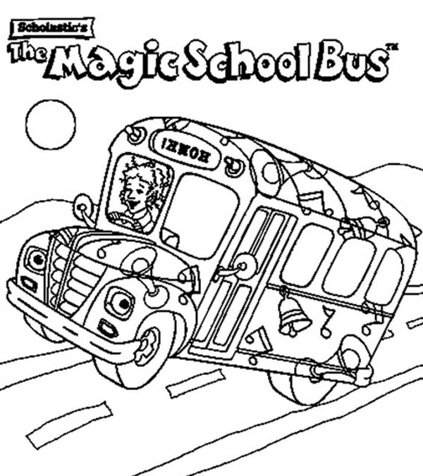 The Magic School Bus Is On Action Coloring Page : Kids