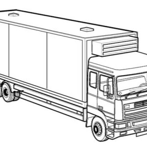 Super Dump Truck Carrying Tons Of Coal Coloring Page