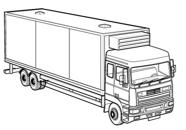 Box Truck Coloring Page : Kids Play Color