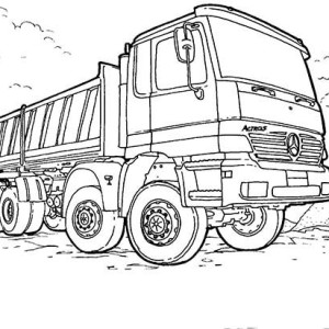 Monster Dump Truck Coloring Page : Kids Play Color
