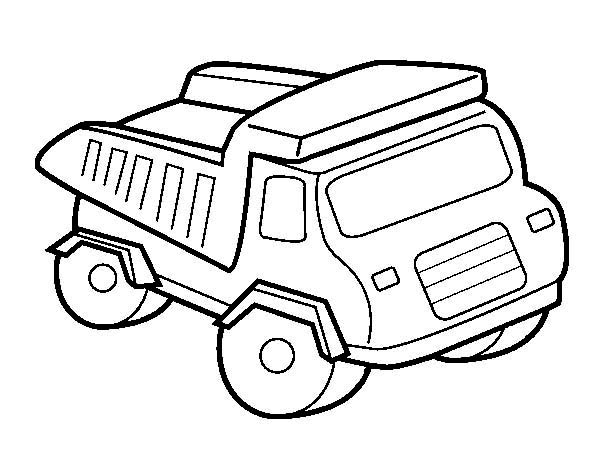 Toy Of A Dump Truck Coloring Page : Kids Play Color