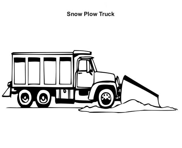 Working Snow Plow Truck Coloring Page : Kids Play Color