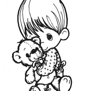 Sing Me A Song Precious Moments Coloring Page : Kids Play