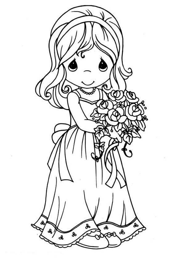 Maid Of Honor Precious Moments Coloring Page : Kids Play Color