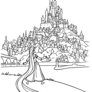 Disney Flynn, Maximus And Rapunzel Coloring Page : Kids
