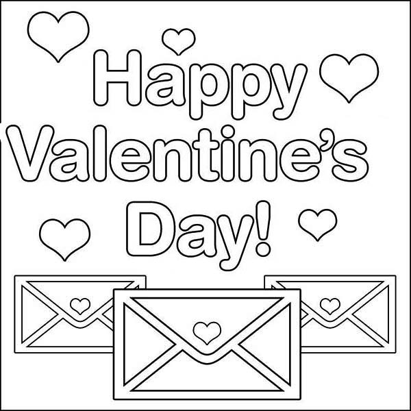 Send Your Valentine's Day Message On Email Coloring Page