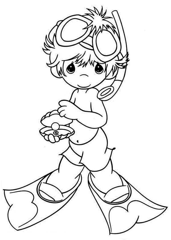 Shine Like A Pearl Precious Moments Coloring Page : Kids