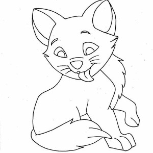 Funny Kitty Cat On Christmas Coloring Page : Kids Play Color