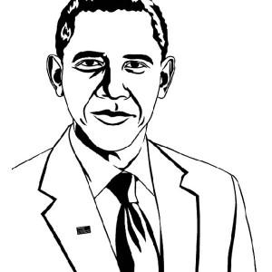 Amazing Barack Obama Coloring Page : Kids Play Color