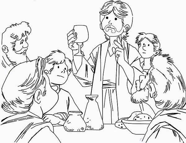 Beautiful Drawing Of The Last Supper Coloring Page : Kids