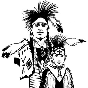 Potrait Of Native American Coloring Page : Kids Play Color
