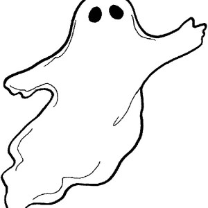 G Is For Ghost Coloring Page : Kids Play Color