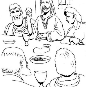 The Last Supper Coloring Page : Kids Play Color