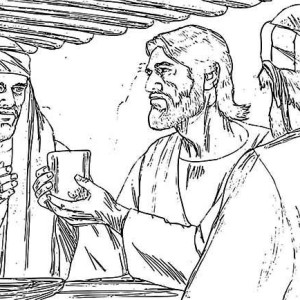 Jesus And Apostles In The Last Supper Coloring Page : Kids