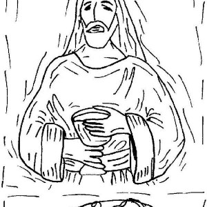 The Lord's Supper In The Last Supper Coloring Page : Kids