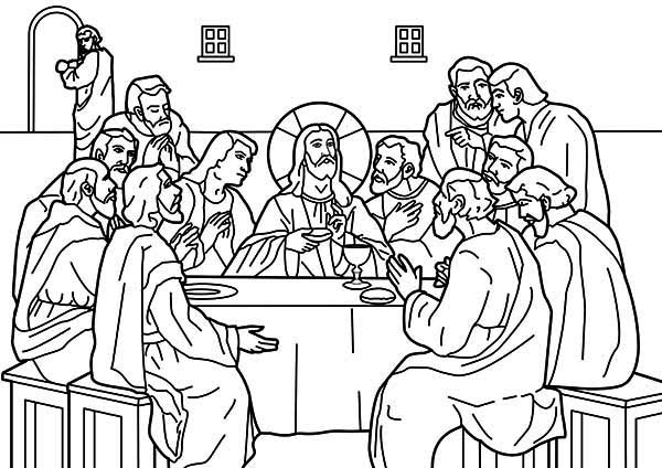 Jesus Shared Dipped Bread To Judas In The Last Supper