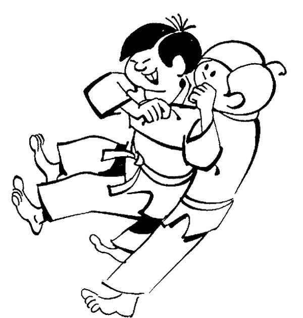 Karate Kid Sub Mission Style Coloring Page : Kids Play Color