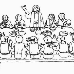The Eucharist Of The Last Supper Coloring Page : Kids Play