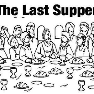 Jesus In The Last Supper Coloring Page : Kids Play Color